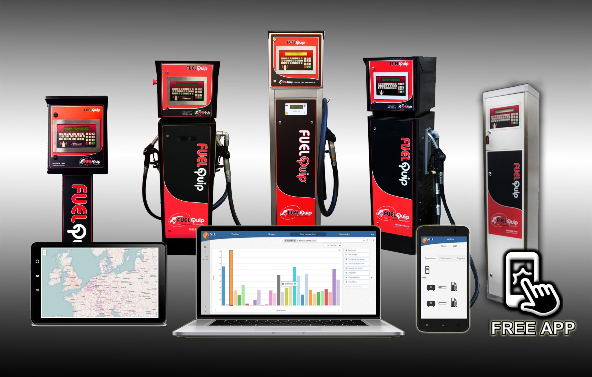 FuelQuip Fuel Management Systems with new software