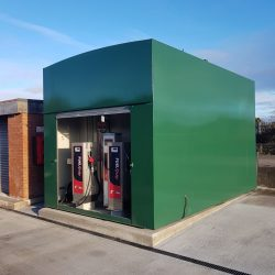 pump and tank installation